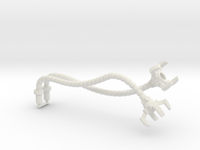 Soundwave Tentacles, 5mm in White Natural Versatile Plastic: Medium