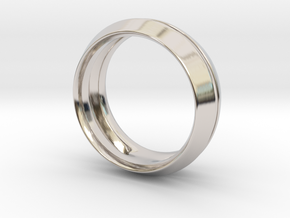 Modern+Fantom in Rhodium Plated Brass: 6 / 51.5