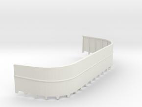 1/32 USN 20mm Gun Tub Port in White Natural Versatile Plastic