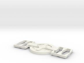 Deadpool Belt in White Natural Versatile Plastic