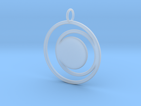 Abstract Two Moons Pendant Charm in Smooth Fine Detail Plastic