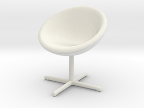Miniature C1 Chair - Verner Panton in White Natural Versatile Plastic: 1:12