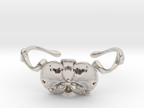 Orchid Cuff in Rhodium Plated Brass