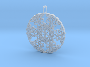 Elegant Flourish Beautiful Pendant Charm in Smooth Fine Detail Plastic
