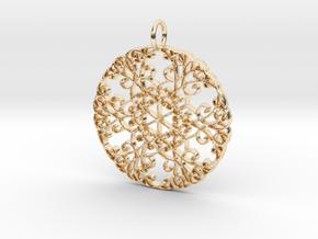 Elegant Flourish Beautiful Pendant Charm in 14K Yellow Gold