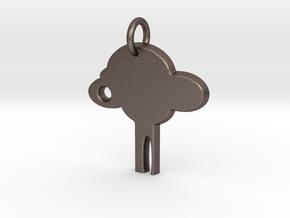 Wish Tree in Polished Bronzed Silver Steel