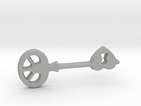 Love Key II in Aluminum