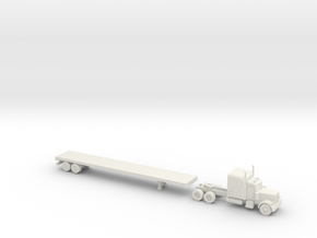 Peterbilt 379 with Flatbed - 1:200scale in White Natural Versatile Plastic