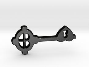 Love Key I in Matte Black Steel