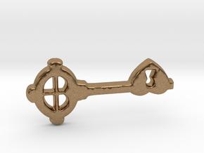 Love Key I in Natural Brass