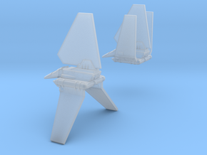 Bad Guy Shuttle Spaceships, Pair, 1:2700 in Smooth Fine Detail Plastic