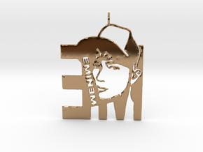 Eminem Pendant - 3D Jewelery - Eminem Fan Pendant in Polished Brass