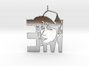 Eminem Pendant - 3D Jewelery - Eminem Fan Pendant in Polished Silver