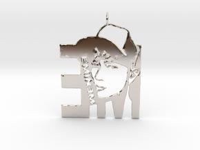 Eminem Pendant - 3D Jewelery - Eminem Fan Pendant in Rhodium Plated Brass