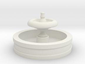Fountain 2in Diameter in White Natural Versatile Plastic