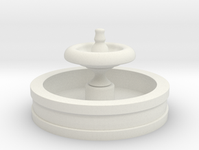Fountain 2in Diameter in White Natural Versatile Plastic