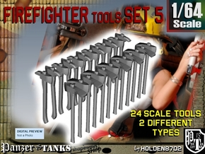 1/64 Firefighter Tools Set5 in Frosted Ultra Detail