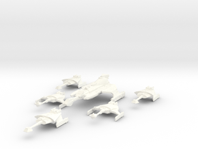 5k Klingon Btl Grp B in White Processed Versatile Plastic