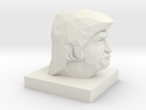 Trump Head in White Natural Versatile Plastic: 1:10
