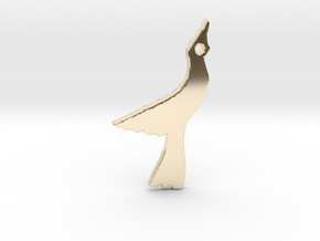 Seagull in 14k Gold Plated Brass