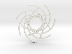 Seven Lines I - Gitinbel in White Natural Versatile Plastic