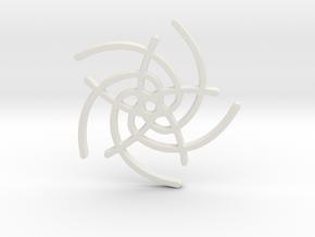 Five Lines I - Gitinbel in White Natural Versatile Plastic