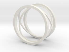 New style ring in White Natural Versatile Plastic: 8 / 56.75