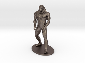 Ookla the Mok Miniature in Polished Bronzed Silver Steel: 1:55