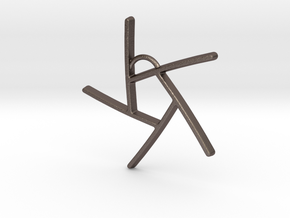 Five Lines II - Home in Polished Bronzed Silver Steel