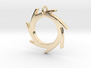 Seven Lines II - Sun in 14k Gold Plated Brass