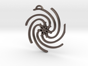 Seven Lines III - Spiral Star in Polished Bronzed Silver Steel