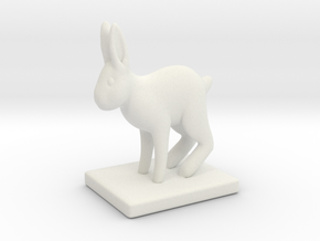 Rabbit  in White Natural Versatile Plastic: Small