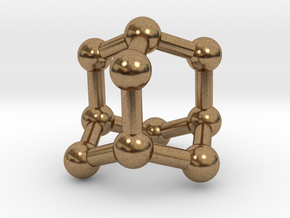 0628 Adamantane (Ball-and-stick model without H) in Natural Brass