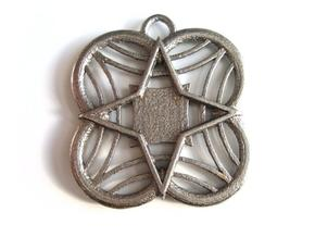 Star Medallion in Stainless Steel