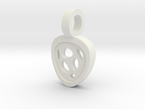 Luna Pendant in White Natural Versatile Plastic
