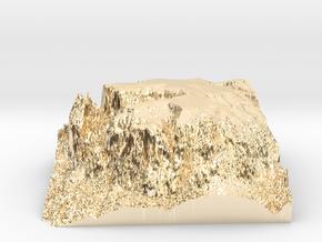 """MyTinyDolomites """"Schlern / Sciliar"""" at """"Seiser Alm in 14K Yellow Gold"""