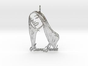 Ariana Grande Pendant - Ariana Grande Fan Pendant  in Natural Silver