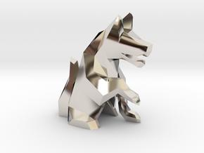 Wazir-Rider (Rook) - [1,0] White Warren in Rhodium Plated Brass