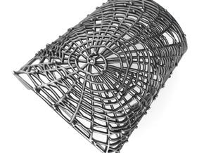 Spider's web - Detailed Bracelet in Polished Silver