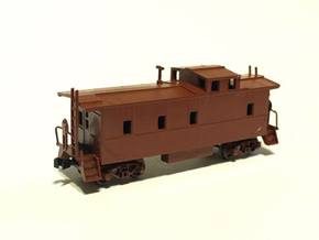 Southern Pacific C-40-3 Caboose modernized N Scale in Black Hi-Def Acrylate