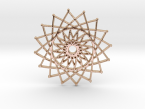 Internal Sun in 14k Rose Gold Plated Brass