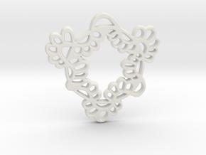 Spring Flair in White Natural Versatile Plastic
