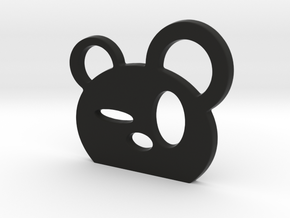 Drunk Panda! in Black Natural Versatile Plastic