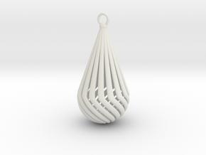 Teardrop  in White Natural Versatile Plastic