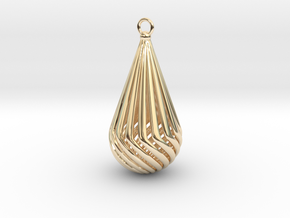 Teardrop  in 14k Gold Plated Brass