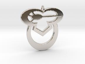 Sleepy Owl in Rhodium Plated Brass
