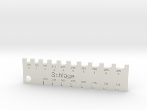 Schlage Pin Gauge in White Strong & Flexible