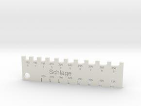 Schlage Pin Gauge in White Natural Versatile Plastic