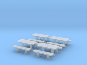 TJ-H01141x4 - Tables beton rectangulaires in Smooth Fine Detail Plastic