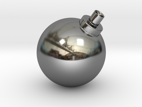 Bomb Vase in Fine Detail Polished Silver